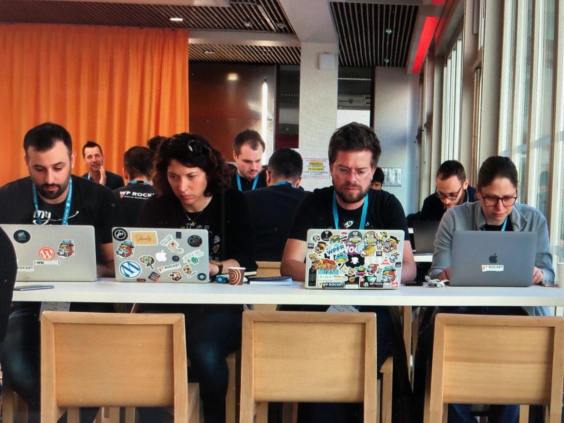 Agathe et son équipe au dernier WordCamp Paris